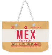 Retro Airline Luggage Tag 2.0 - Mex Mexico City International Airport Mexico Weekender Tote Bag