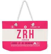 Retro Airline Luggage Tag 2.0 - Zrh Zurich International Airport Switzerland Weekender Tote Bag