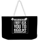 Aspiring Writer Gift Weekender Tote Bag