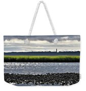 Assateaugue Lighthouse From Chincoteague Weekender Tote Bag by Kim Bemis
