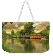 At Home On The River Weekender Tote Bag