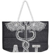 Athletic Trainer Gift Idea With Caduceus Illustration 02 Weekender Tote Bag