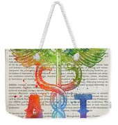 Athletic Trainer Gift Idea With Caduceus Illustration 03 Weekender Tote Bag