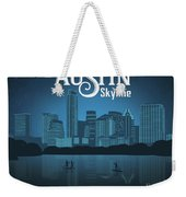 Austin Texas Skyline Weekender Tote Bag