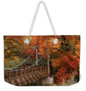 Autumn Across The Bridge  Weekender Tote Bag