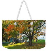 Autumn Day In The Salem Willows Salem Ma Red Weekender Tote Bag