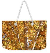 Autumn Golden Leaves Weekender Tote Bag