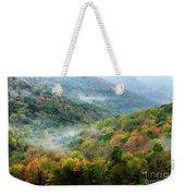 Autumn Hillsides With Mist Weekender Tote Bag