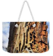 Autumn Knotty Tree Sculpture Weekender Tote Bag