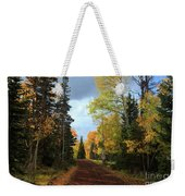 Autumn Pathway Weekender Tote Bag