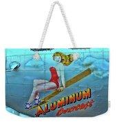 B - 17 Aluminum Overcast Pin-up Weekender Tote Bag