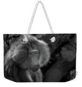 Baboon Black And White Weekender Tote Bag
