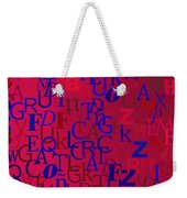 Background With Letters Over Purple Backlight Weekender Tote Bag