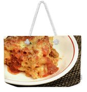 Baked Ziti Serving 2 Weekender Tote Bag