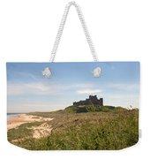 Bamburgh Castle And Beach In Summer Weekender Tote Bag