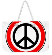 Ban The Bomb Road Sign Weekender Tote Bag