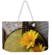 Banjo And Two Sunflowers Weekender Tote Bag