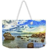 Bansai Rock, Lake Tahoe, Nevada, Panorama Weekender Tote Bag