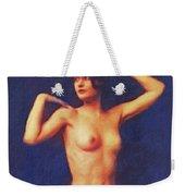 Barbara Stanwyck, Vintage Movie Star Nude Weekender Tote Bag