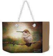 Barbed Wire Hummingbird Perch Weekender Tote Bag