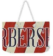 Barbershop Weekender Tote Bag