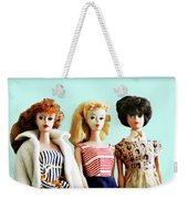 Barbies On Blue Weekender Tote Bag