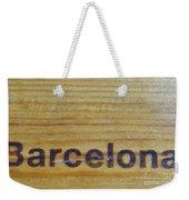 Barcelona Weekender Tote Bag