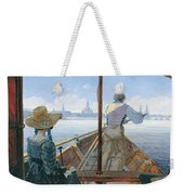 Barge Trip On The Elbe Near Dresden, Morning On The Elbe, 1827 Weekender Tote Bag