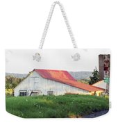 Barn With Red Roof Weekender Tote Bag
