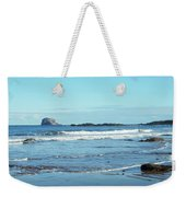 Bass Rock And Beach At North Berwick Weekender Tote Bag