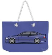 Bavarian E36 3-series M-drei Coupe Techno Violet Weekender Tote Bag