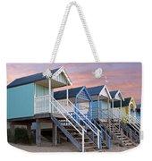 Beach Huts Sunset Weekender Tote Bag