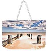 Beach Perpective Weekender Tote Bag