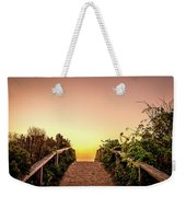 Path Over The Dunes At Sunrise. Weekender Tote Bag by Jeff Sinon