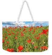 Beautiful Fields Of Red Poppies Weekender Tote Bag