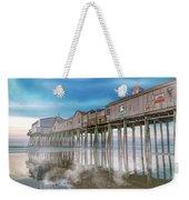 Beautiful Pier Maine Morning Weekender Tote Bag