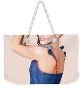 Beautiful Pin Up Woman. Rockabilly Retro Fashion Weekender Tote Bag