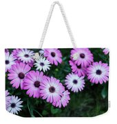 Beautiful Pink Flowers In Grass Weekender Tote Bag