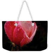 Beautiful Wet Rose Weekender Tote Bag