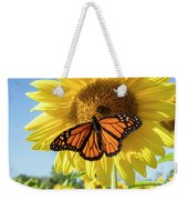 Beauty On The Sunflower Weekender Tote Bag