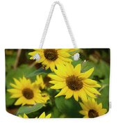 Bee And Sunflowers Weekender Tote Bag