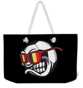 Belgium Angry Soccer Ball With Sunglasses Fanshirt Weekender Tote Bag