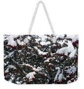 Berries And Snow Weekender Tote Bag