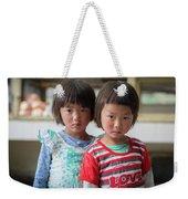 Bhutan Twins Weekender Tote Bag