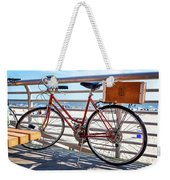 Bicycle At The Beach Weekender Tote Bag