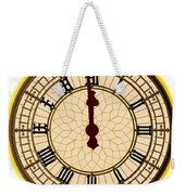Big Ben Midnight Clock Face Weekender Tote Bag