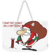 Big Fat Santa And Tiny Chimney Weekender Tote Bag