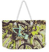 Bikes And City Routes Weekender Tote Bag