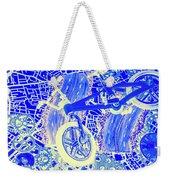 Biking Blue Weekender Tote Bag