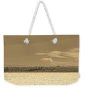 Biloxi's Pristine Beach In Sepia Tones Weekender Tote Bag